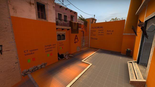 Скриншот карты Mirage Bombsite A T Smokes